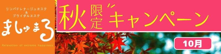 秋限定キャンペーン開催